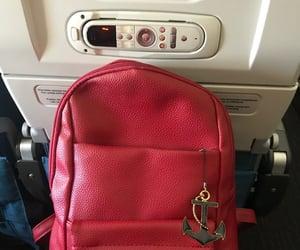 bag, flight, and plane image