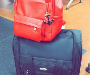 airport, travel, and bag image