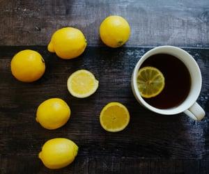 drink, image, and lemon image