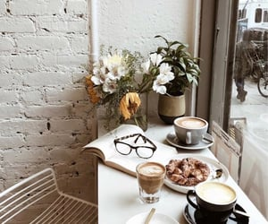 flowers, coffee, and cozy image