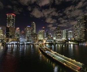 Miami, night, and skyline image