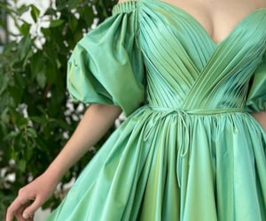 dress, green, and corset image