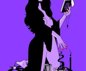 black dress, Halloween, and purple image