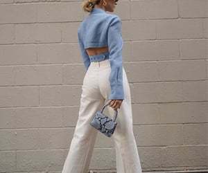 baby blue, goals, and look book image