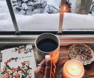 bibliophile, winter, and reading image