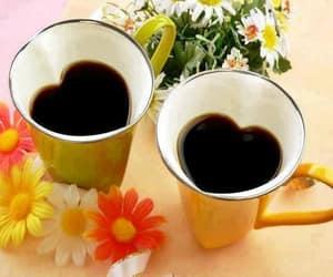 coffee, love, and flowers image