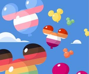 balloons, flag, and lgbtq image