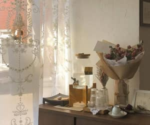 interior, room, and flowers image