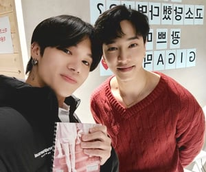 lee gikwang, jung wooyoung, and ateez image