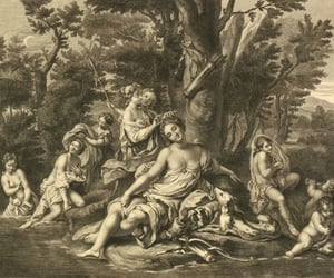 artemis, engraving, and etching image