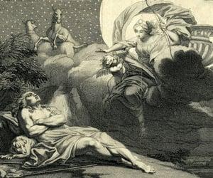 artemis, etching, and illustration image