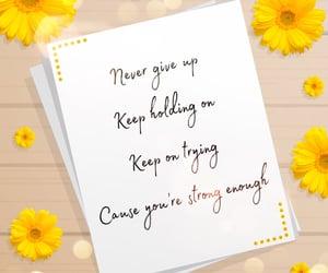 be strong, inspiration, and Lyrics image