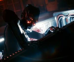 dark, mask, and scientist image