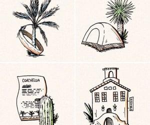 cactus, coachella, and drawing image