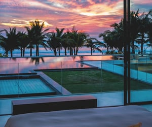 sunset, luxury, and view image