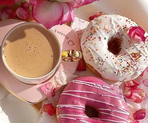 donuts, dessert, and doughnuts image