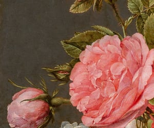 art, pink, and flower image