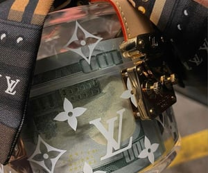 bag, Louis Vuitton, and money image