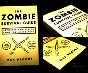 book, survival, and zombies image
