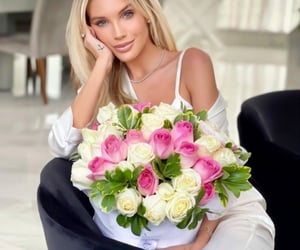 barbie, floral, and blonde image