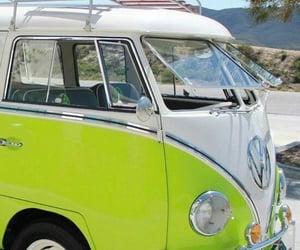 car, green, and kombi image