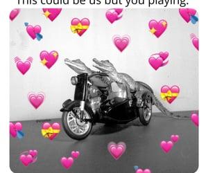 flirty, love, and hearts image