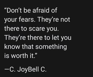 fear, quotes about fear, and inspiration image
