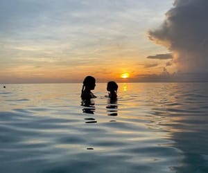ocean, sunset, and summer image