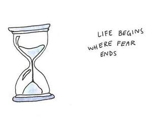 life, quotes, and fear image