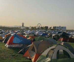 camping, coachella, and festival image
