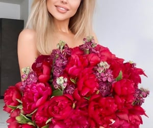 barbie, fashion, and floral image