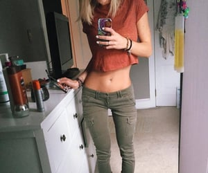 blonde hair, thigh gap, and fitness motivation image