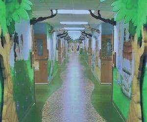corridor, dreamcore, and hallway image