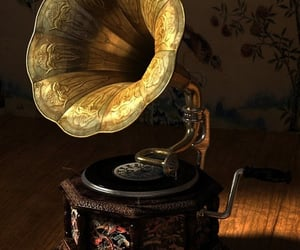 antique, music, and vintage image