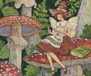 fairy, mushrooms, and fairy art image