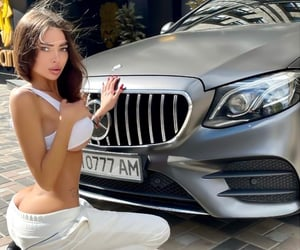 benz, brunette, and glamorous image