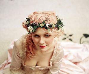 marie antoinette, Kirsten Dunst, and flowers image