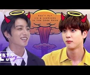 jin, video, and jungkook image