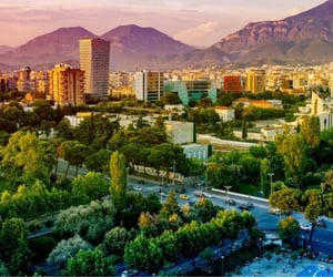 city, mountains, and travel image