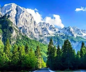 mountains, travel, and trees image