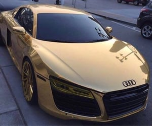 audi, rich, and car image