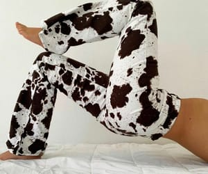 cow print, fashion, and style image