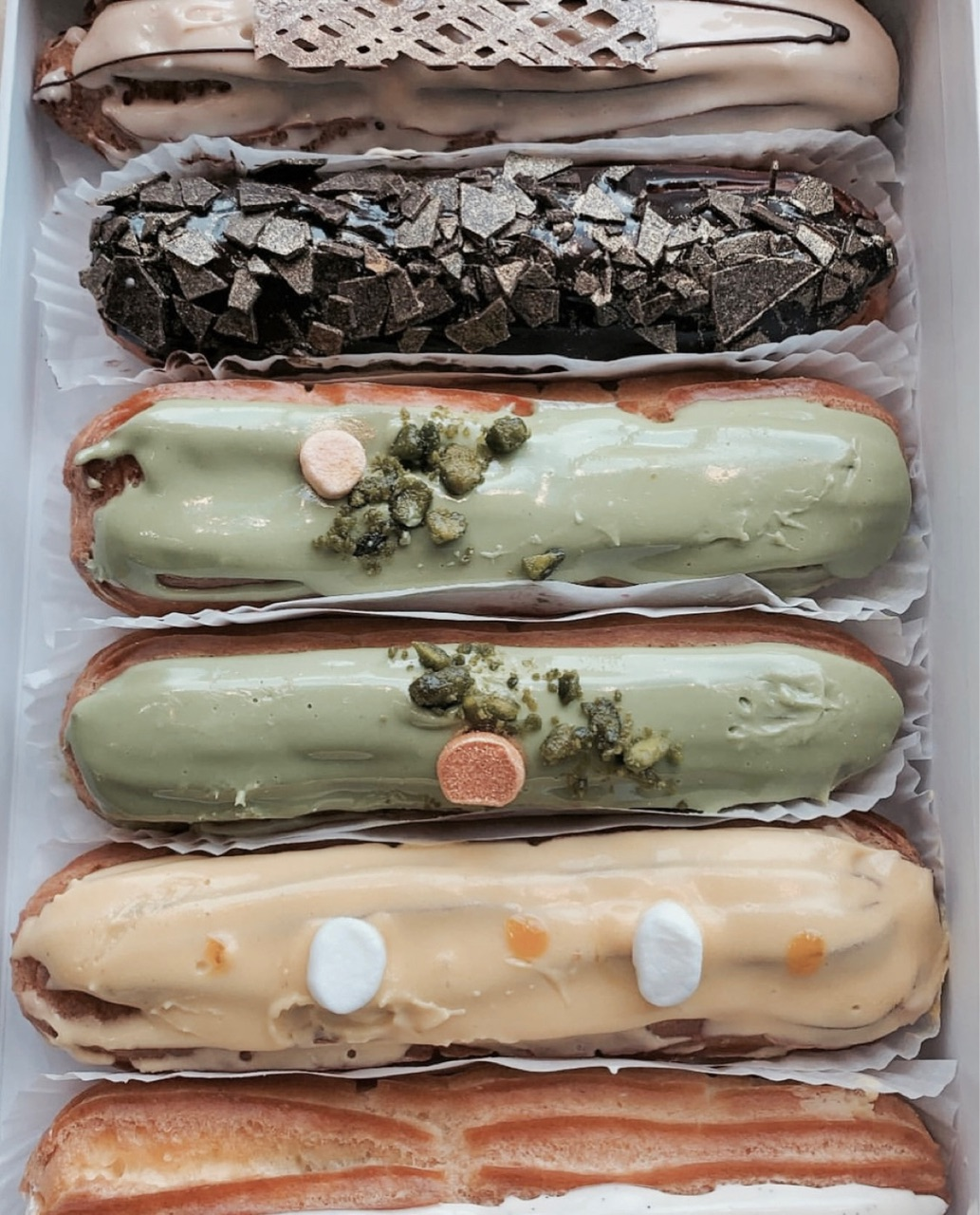 dessert, food, and eclairs image