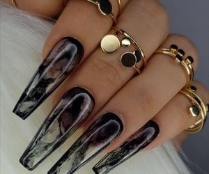 beauty, black, and nails image