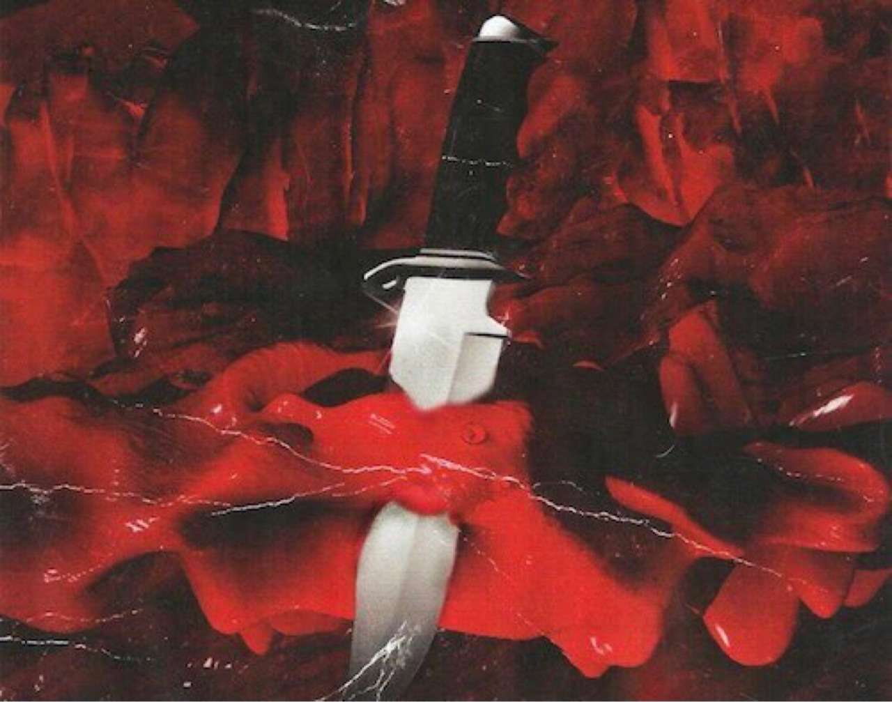 knife, red, and scarlet image