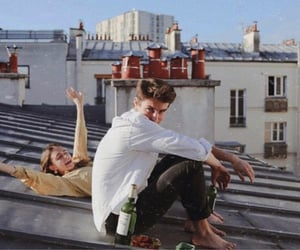 city, rooftop, and couple image
