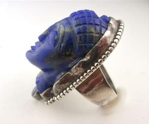 etsy, hand crafted, and blue stone image