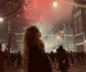 curls, firework, and girl image