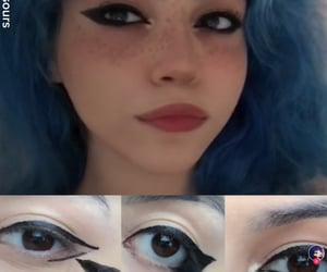 make-up, maquillage, and liner image