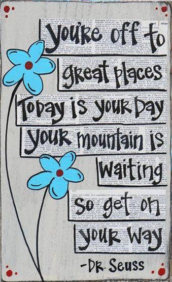 quotes, dr seuss, and mountain image